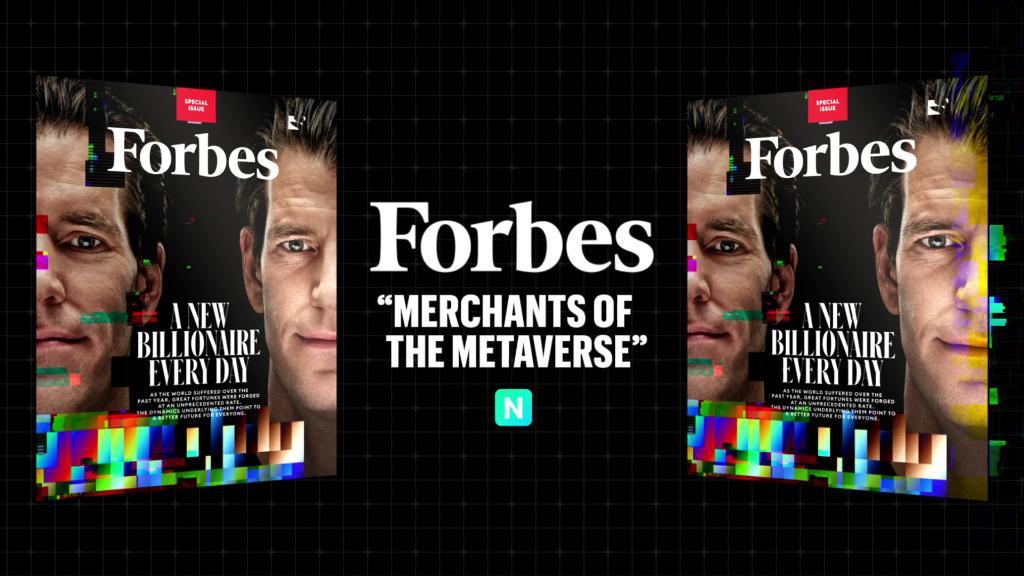 Žurnāls Forbes izsolē pārdevis neaizvietojamo tokenu (NFT) ar dvīnubrāļiem Kameronu un Taileru Winklevosiem par $333 333